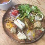ビュッフェ1皿目とスープ