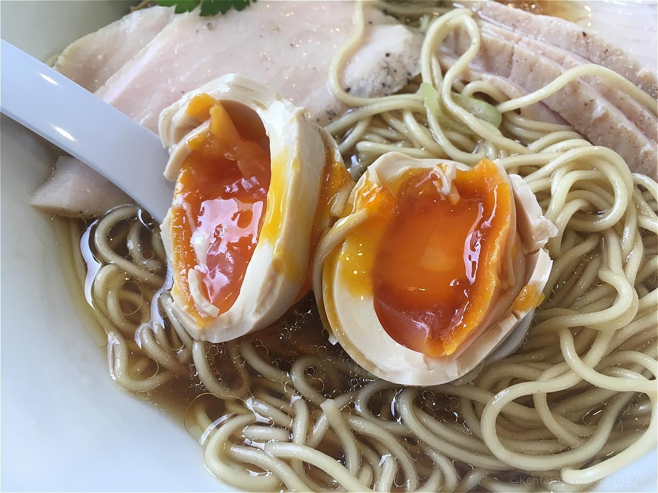 地鶏の里の半熟煮玉子