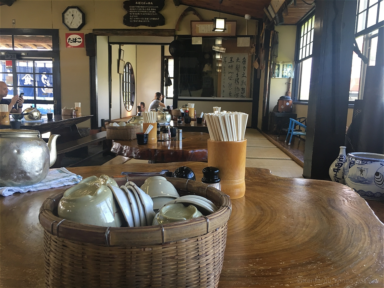 忠太郎茶屋の店内(座敷)
