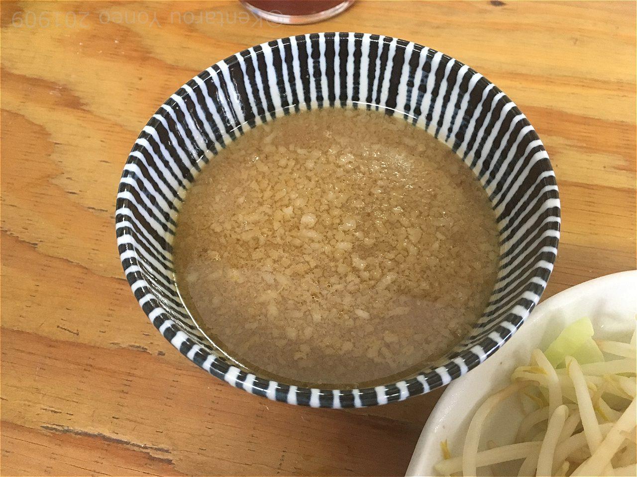 ひじり家のつけ麺のスープ