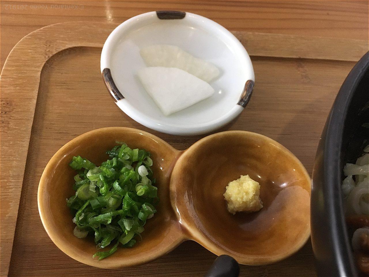 小ねぎと生姜と漬物